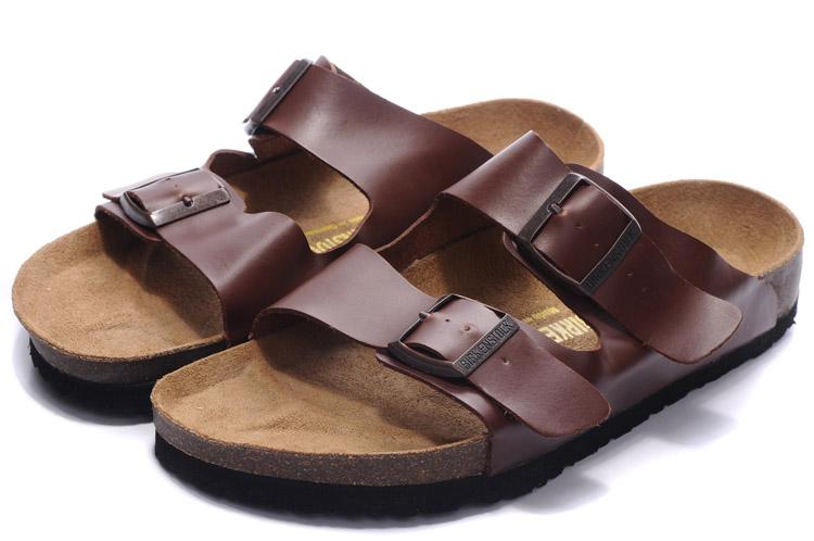 кожанные сандалии